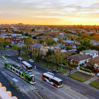 Sunset View of Clifton Hill where Wellness Medicine is located.