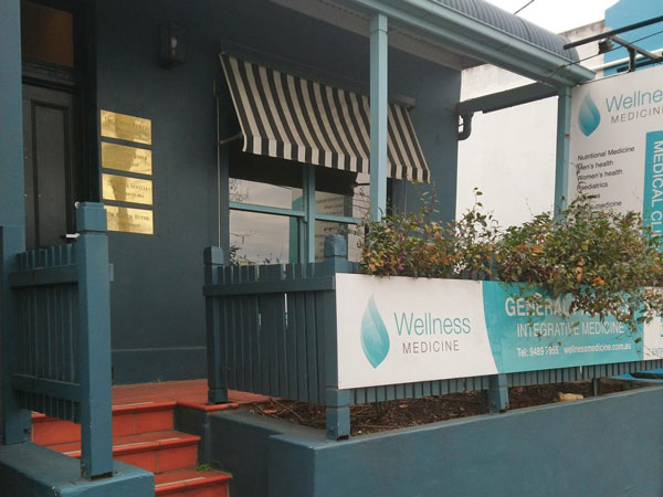 Street view of the entrance to Wellness Medicine GP Clinic in Clifton Hill
